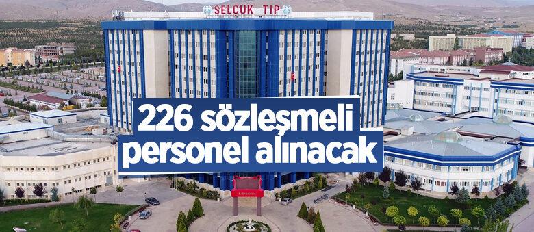 Selçuk Üniversitesi 226 sözleşmeli personel alacak