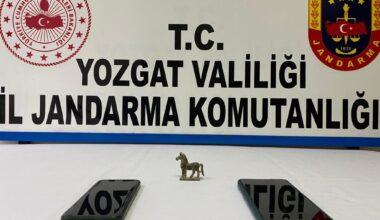 Yerköy'de 100 bin TL'lik tarihi eser ele geçirildi