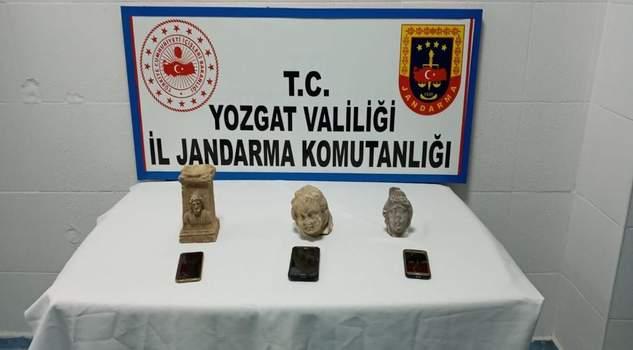 Yerköy'de tarihi eser operasyonu  3 kişi göz altına alındı
