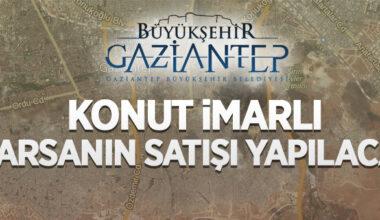 Gaziantep Büyükşehir Belediyesi tarafından konut imarlı 4 adet arsanın satış ihalesi yapılacak