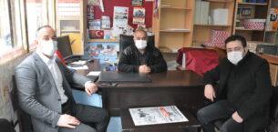 Açıkgöz ve Demirel'den gazetemize ziyaret