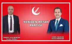 """İlçe Başkanı Feridun Dereli, """"Milli Görüş bir teori değil, gerçek anlamda hizmet hamlesidir"""""""