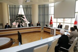 Başkan Baran'dan Rektör Karadağ'a ziyaret