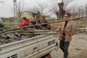 """Hakan Uyar, """"Köylerimize fidanları dağıttık"""""""