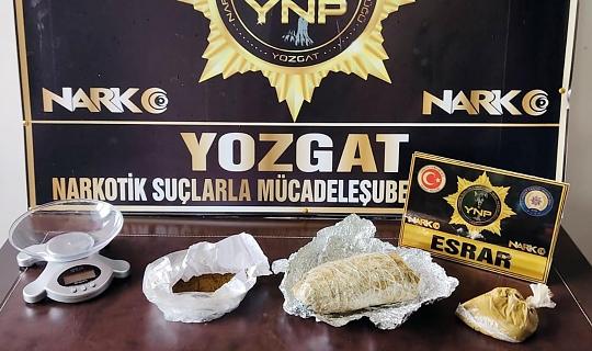 Yerköy'de uyuşturucuyla yakalanan zanlı tutuklandı