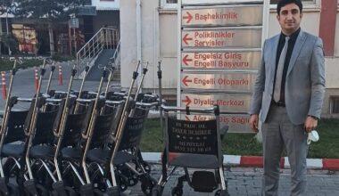 Prof. Dr. Taner Demirer'den ilçemize tekerlekli sandalye desteği