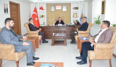 Dereli'den, İl Başkanı Yusuf Başer'e ziyaret