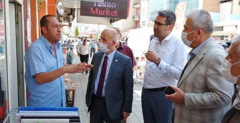 Milletvekili Keven, Yerköy'de çeşitli ziyaretlerde bulundu