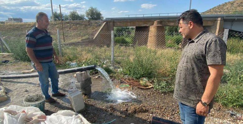 """Başkan Yardımcısı Oktay Yılmaz, """"İki adet su kuyumuz yakında faaliyete geçecek"""""""