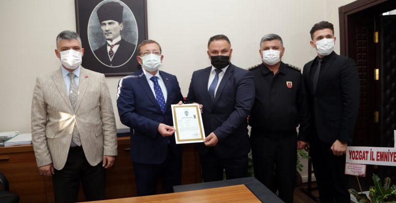 Vali Polat, Başarı Belgesi ile ödüllendirdi